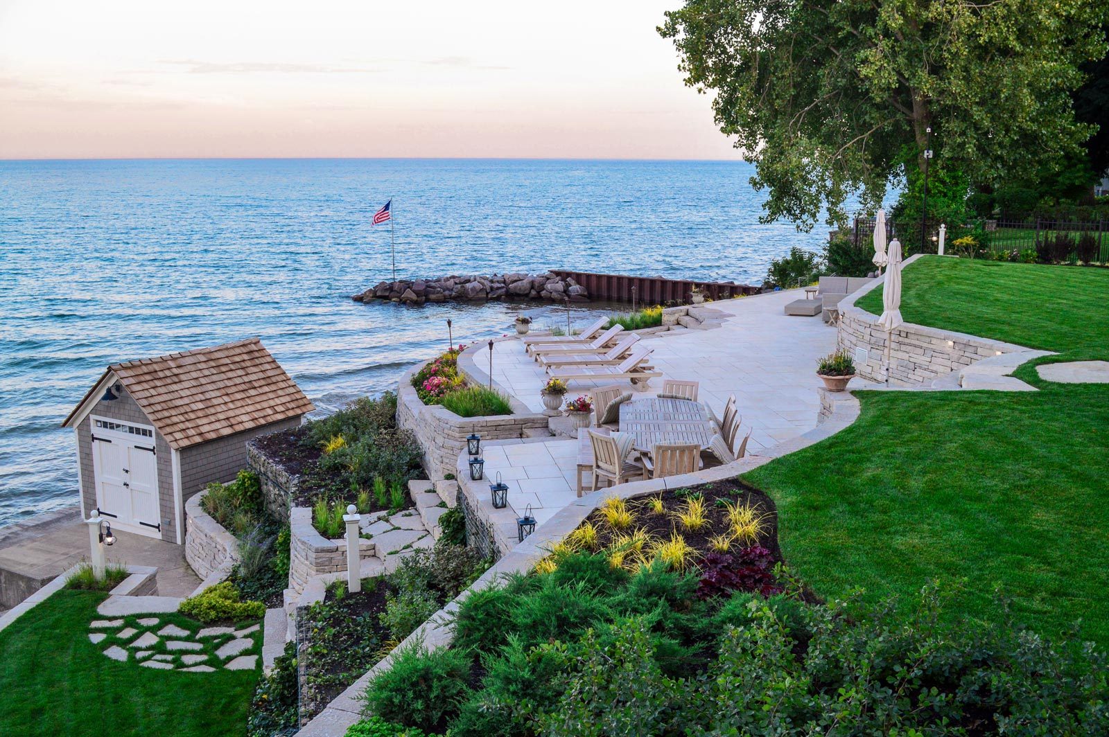 O'Brien Landscape | Garden Sunset Chicago
