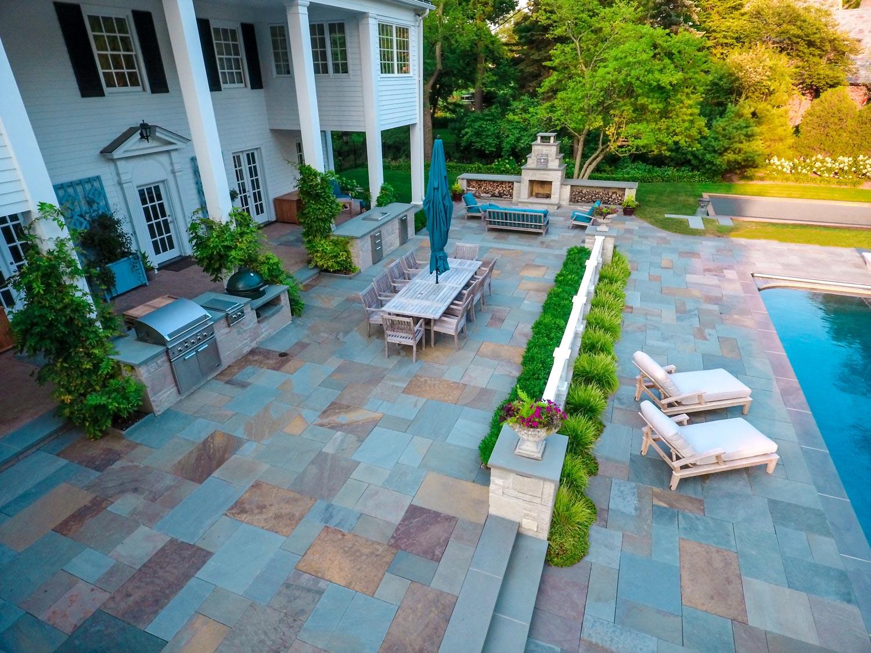 O'Brien Landscape | Blue Stone Outdoor Kitchen